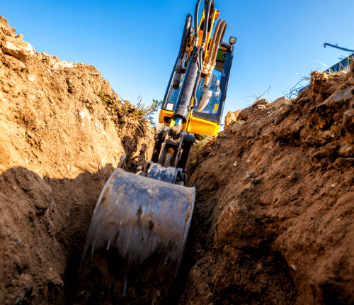landscape construction Calgary - excavation