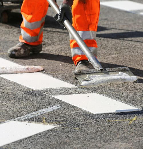 Property Maintenance Calgary - road marking