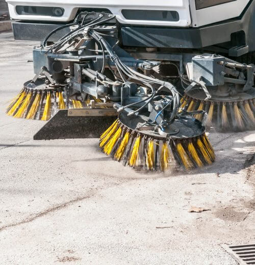 Property Maintenance Calgary - power sweeping